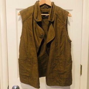 Wilfred Free Aritzia oversized linen vest size xxs